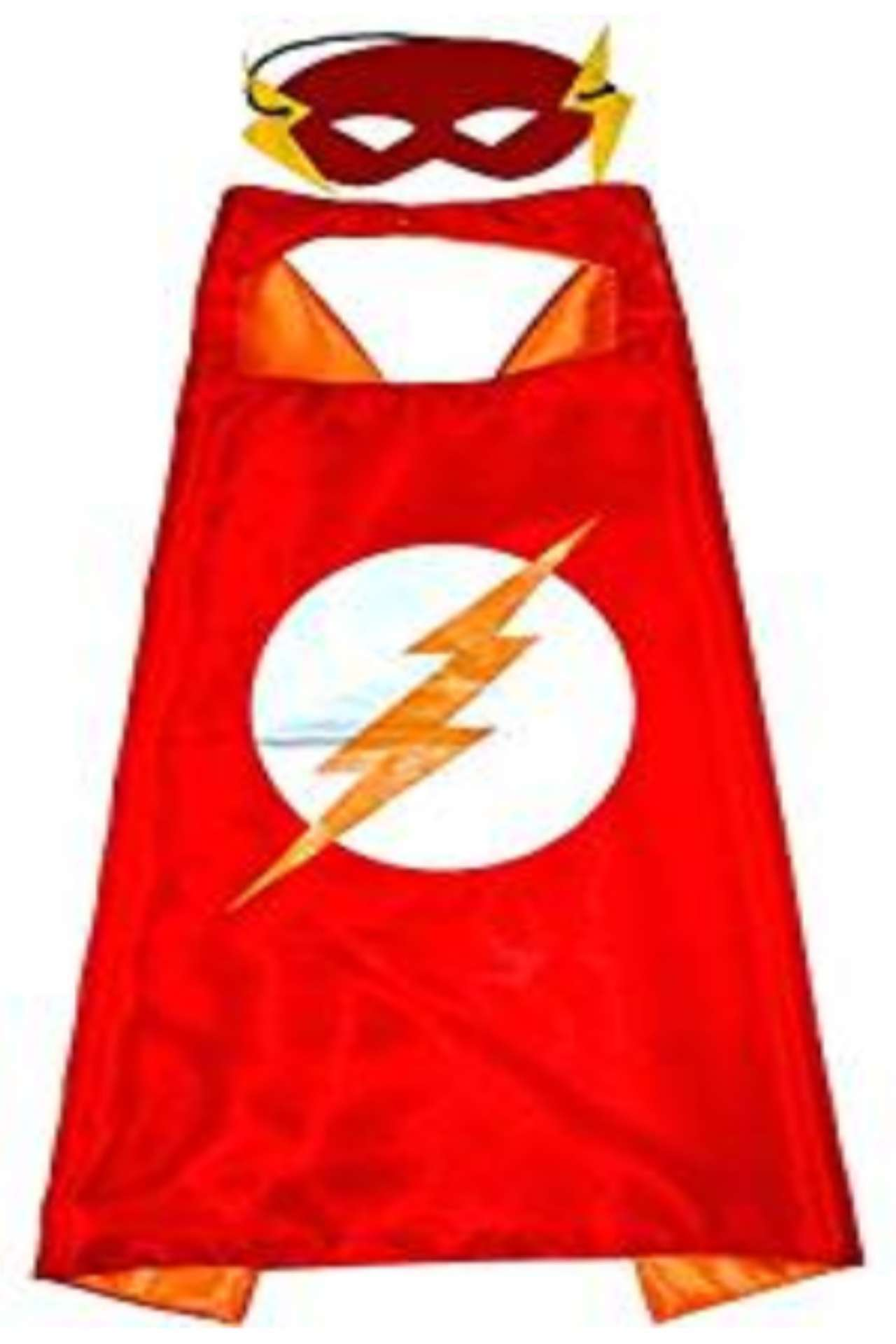 Childrens DC Universe Flash satin cape and felt mask
