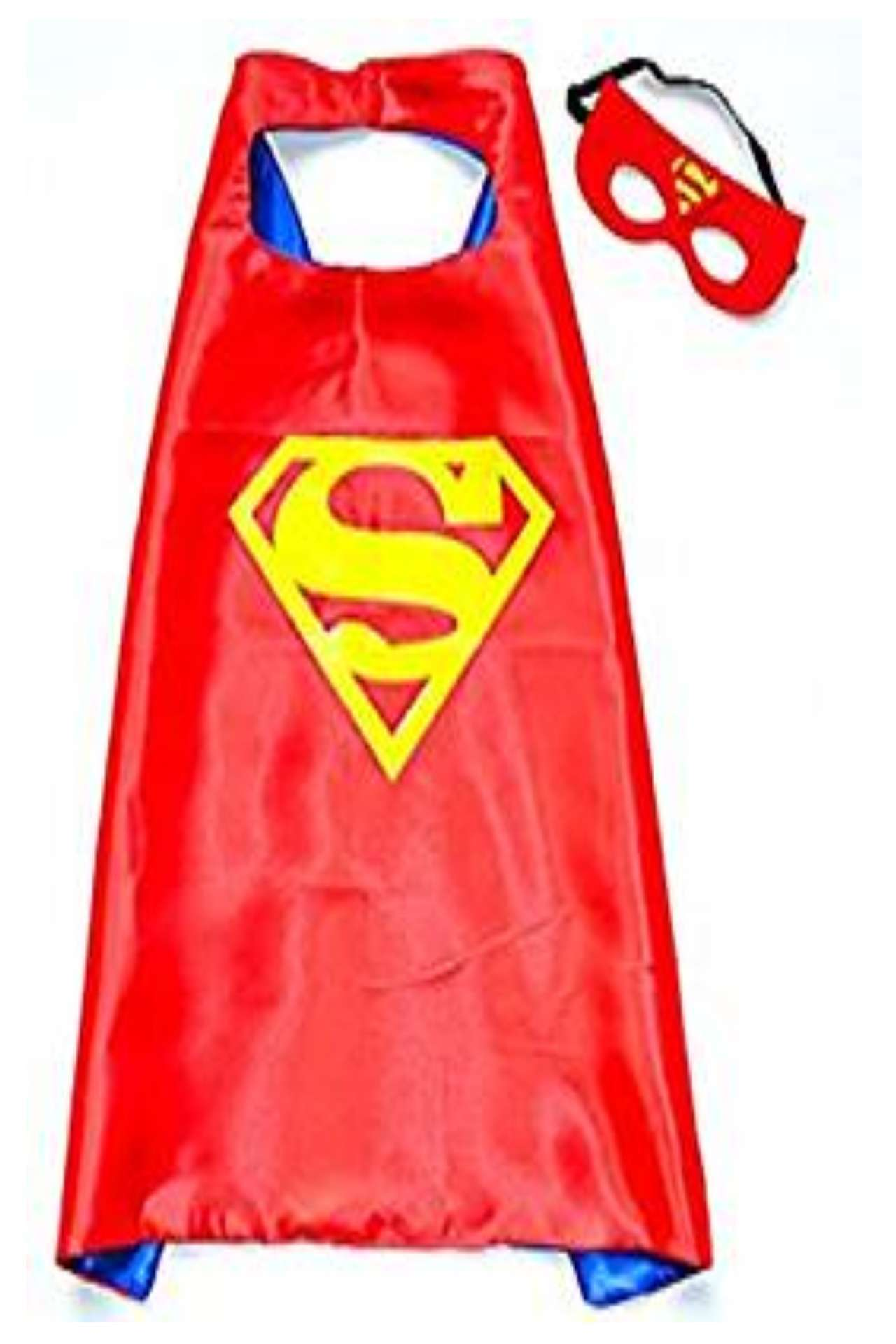 Children DC Universe red superman satin cape and felt mask