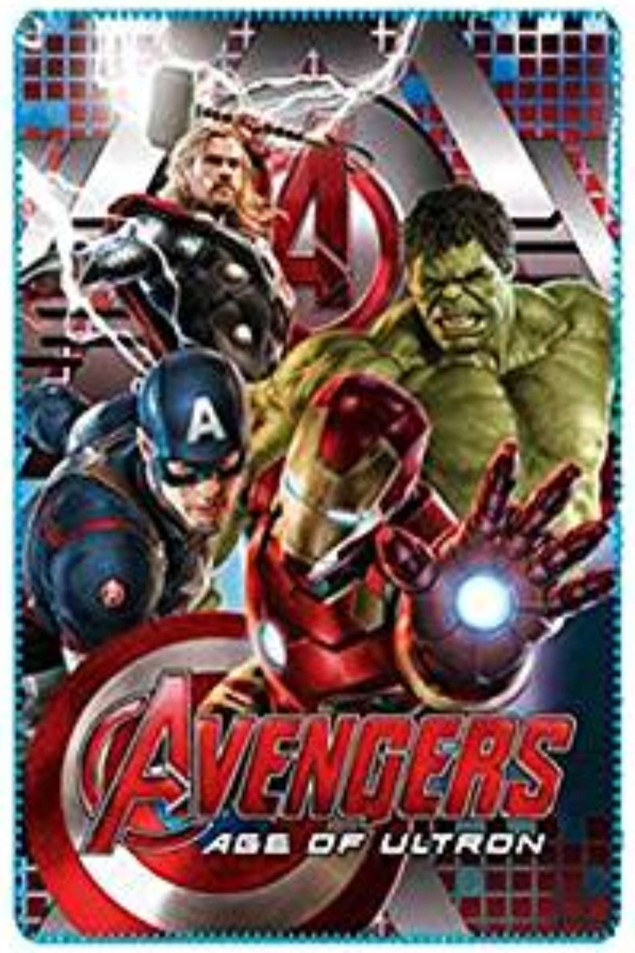 Marvel avengers soft fleece blanket Age of Ultron