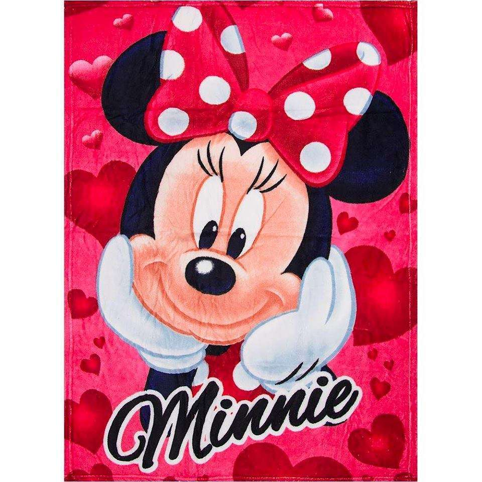 Official Disney Red Minnie Mouse Fleece Blanket