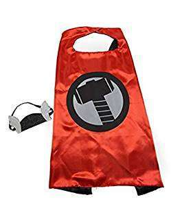 Children Marvel Avengers Universe Thor satin cape and felt mask