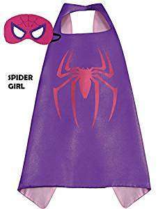 Children Marvel Universe Avengers Spider-Girl satin cape and felt mask