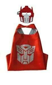 Children Hasbro Transformers satin cape and felt mask