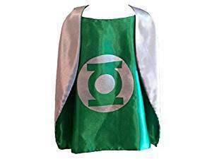 Children DC Universe Green Lantern satin cape and felt mask