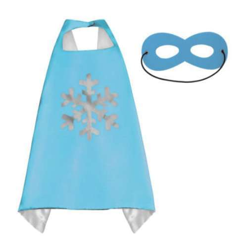 Children Disney Blue Frozen satin cape and felt mask