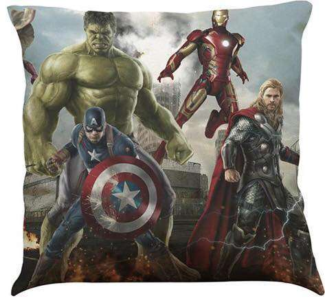 Marvel Avengers Cushion With Hulk Captain America Iron Man And Thor