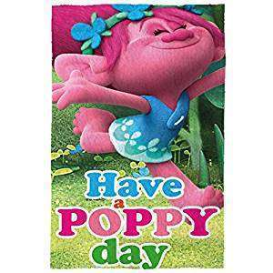 Official Trolls Have A Poppy Day Fleece blanket