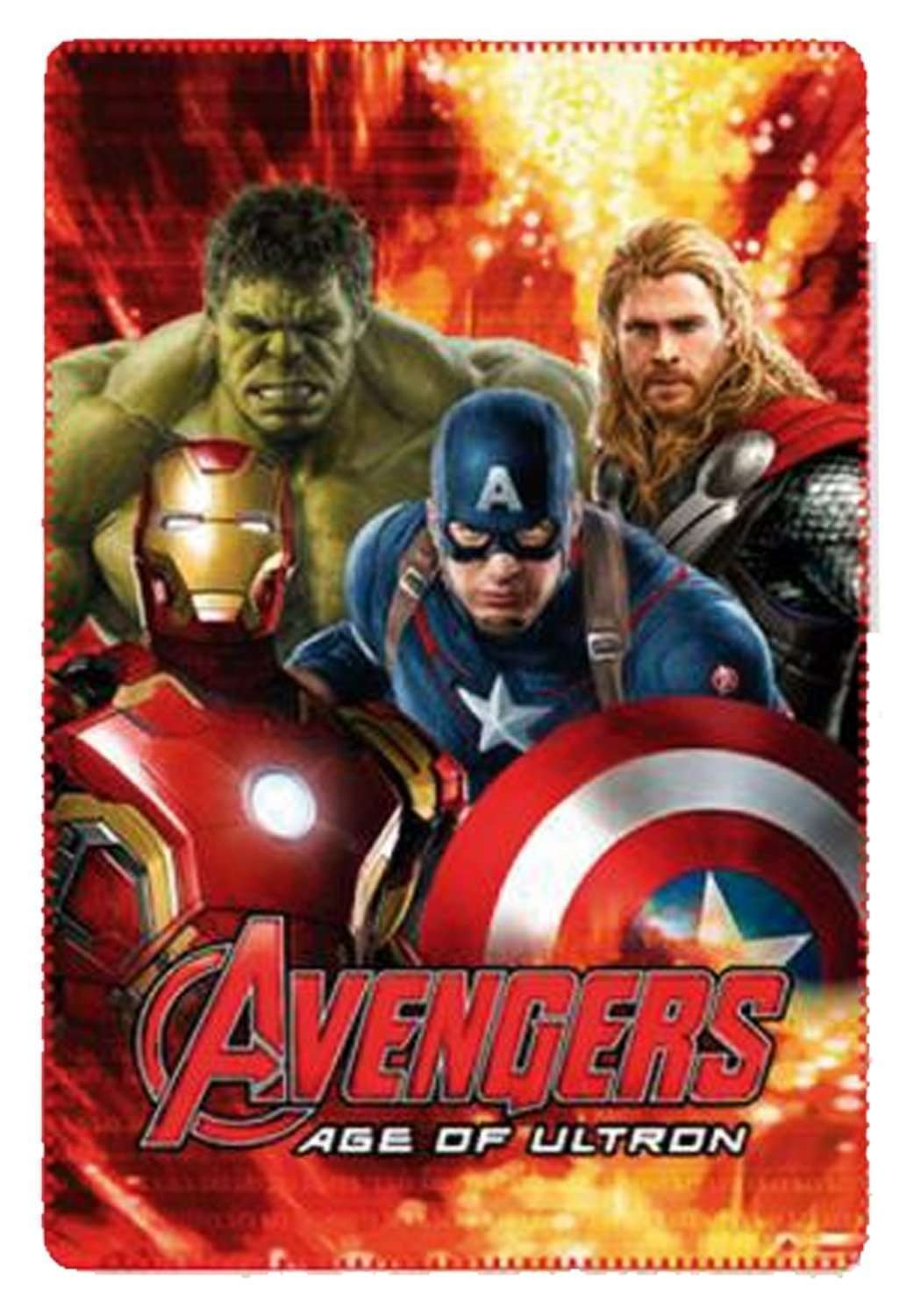 Marvel Avengers Soft Fleece Blanket Age Of Ultron Fiery