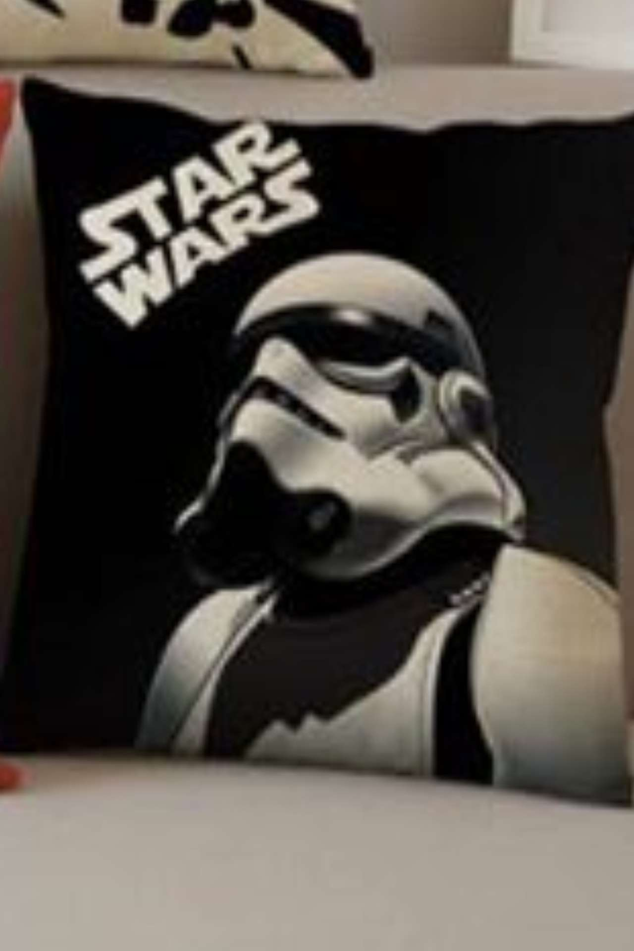 Disney Star Wars Trooper Cushion Luxury Black Pose