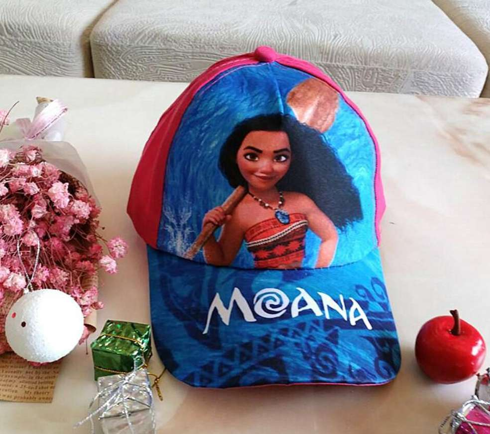 Kids Moana Baseball Cap With Pink Backing