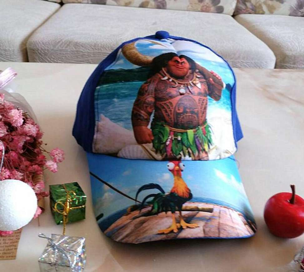 Kids Maui Baseball Cap With Blue Backing From Moana