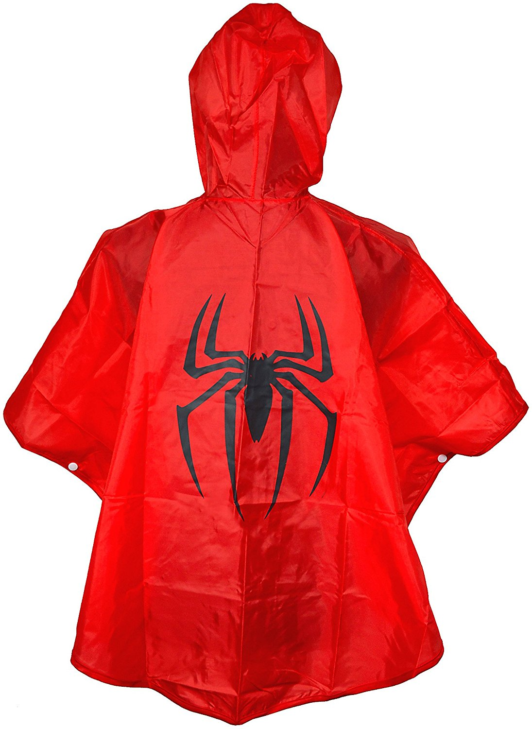 KIDS SPIDERMAN PONCHO RAINCOAT WITH FREE SUPER HERO BAG