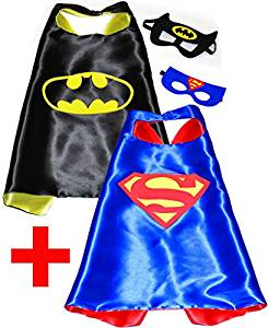 Marvel Avengers Two Pack Superhero Cape And Mask Set Batman And Super Man