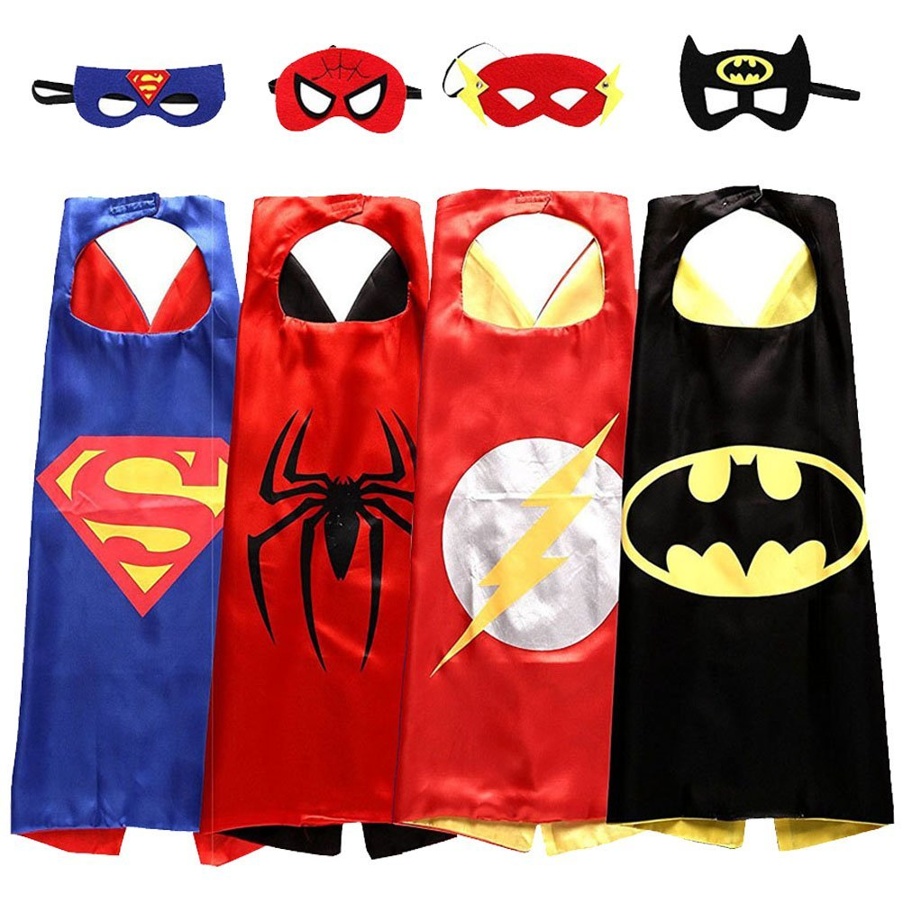 Avengers Superhero Four Set Cape And Mask Set Batman Superman Spider-man Flash
