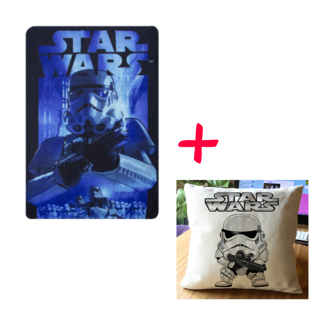 Star Wars Blue Storm Trooper And Pillow Set