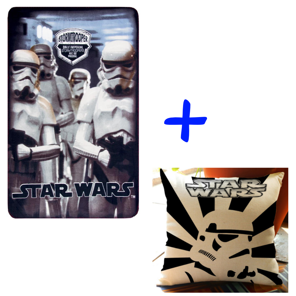 Star Wars White Storm Trooper And Pillow Set