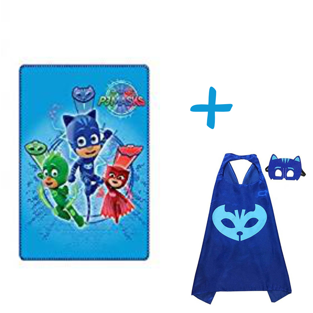 PJ MASKS TRIO BLANKET AND CATBOY CAPE SET PACK OF TWO