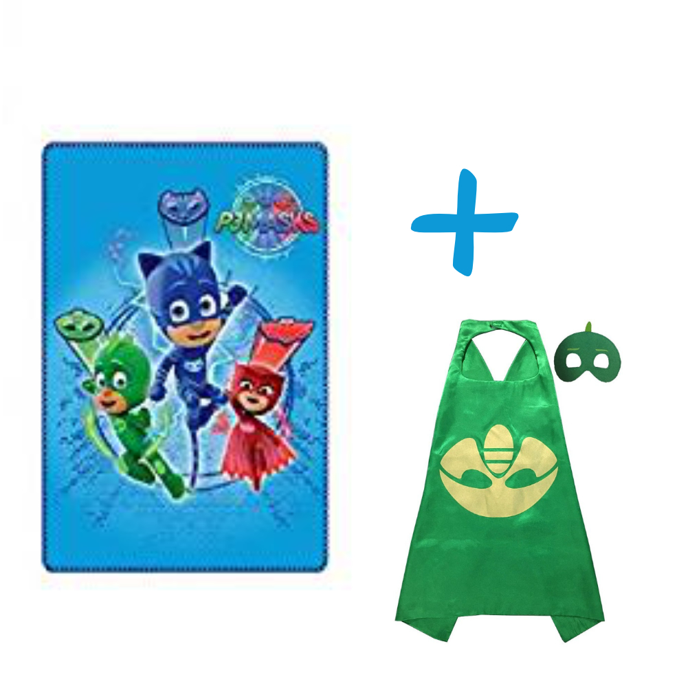 PJ MASKS TRIO BLANKET AND GHEKKO CAPE SET PACK OF TWO