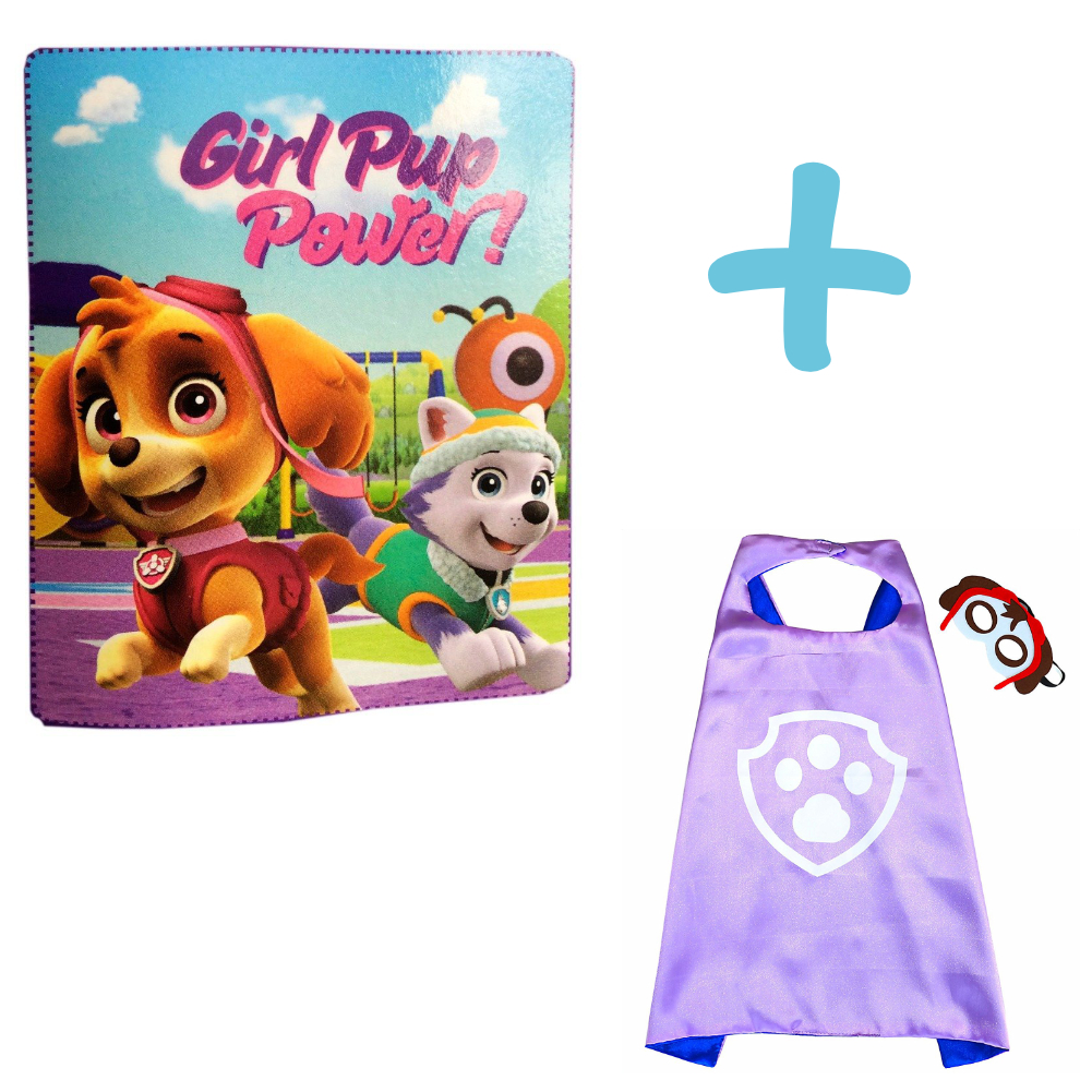 Paw Patrol Girl Pup Power Blanket And Skye Cape And Mask Set