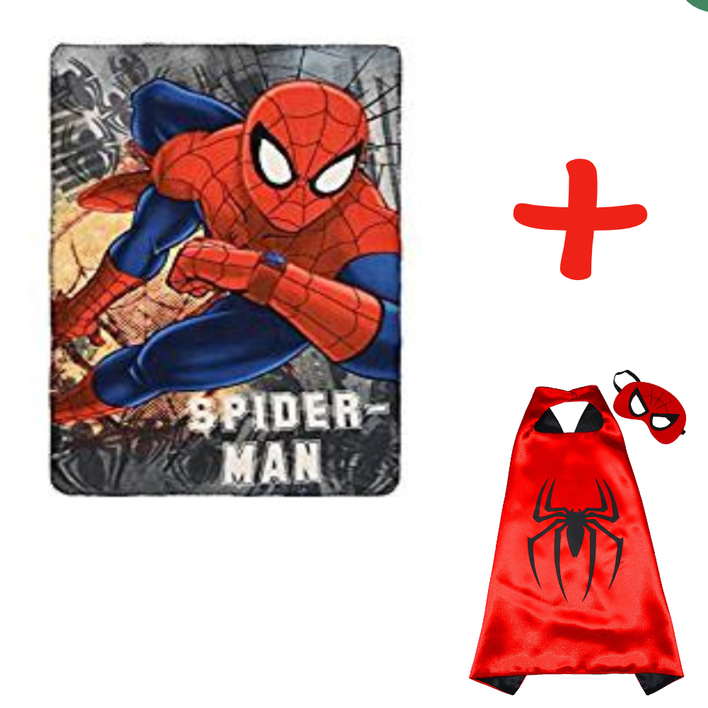 Spider-Man Fleece Blanket And Spider-Man Cape And Mask Set
