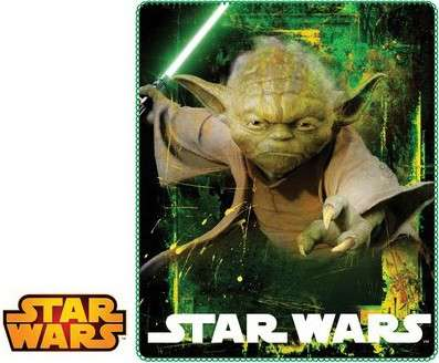 Official Disney Star Wars Yoda Fleece Blanket