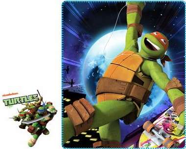 Official Teenage Ninja Hero Turtles Fleece Blanket