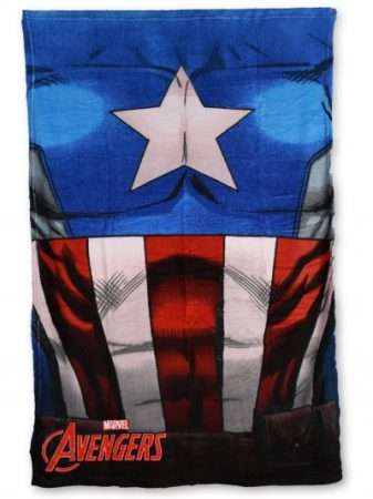 Official Marvel Avengers Captain America Fleece Blanket