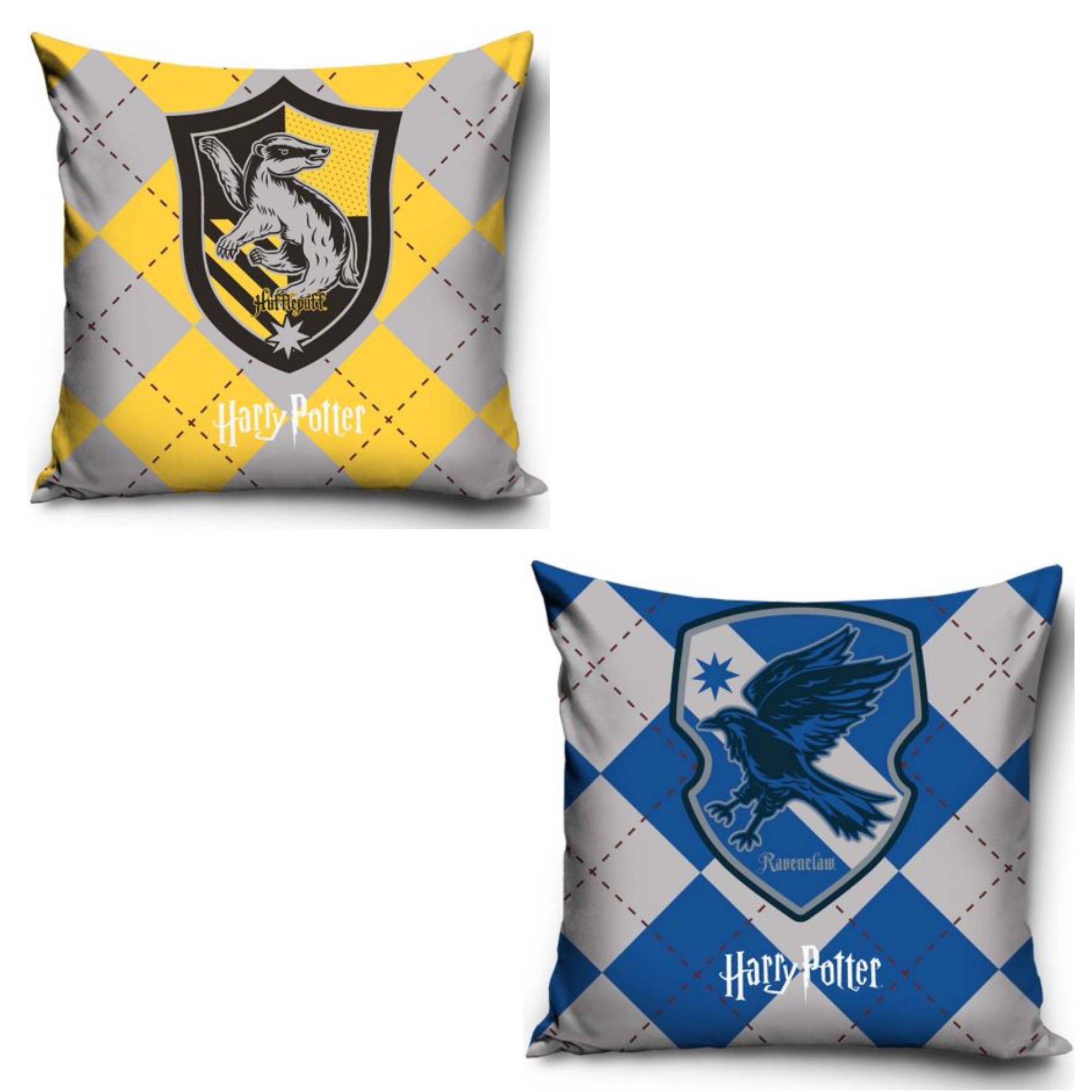 Official Warner Bros Harry Potter Hufflepuff And Ravenclaw Pillowcase Set Of Two