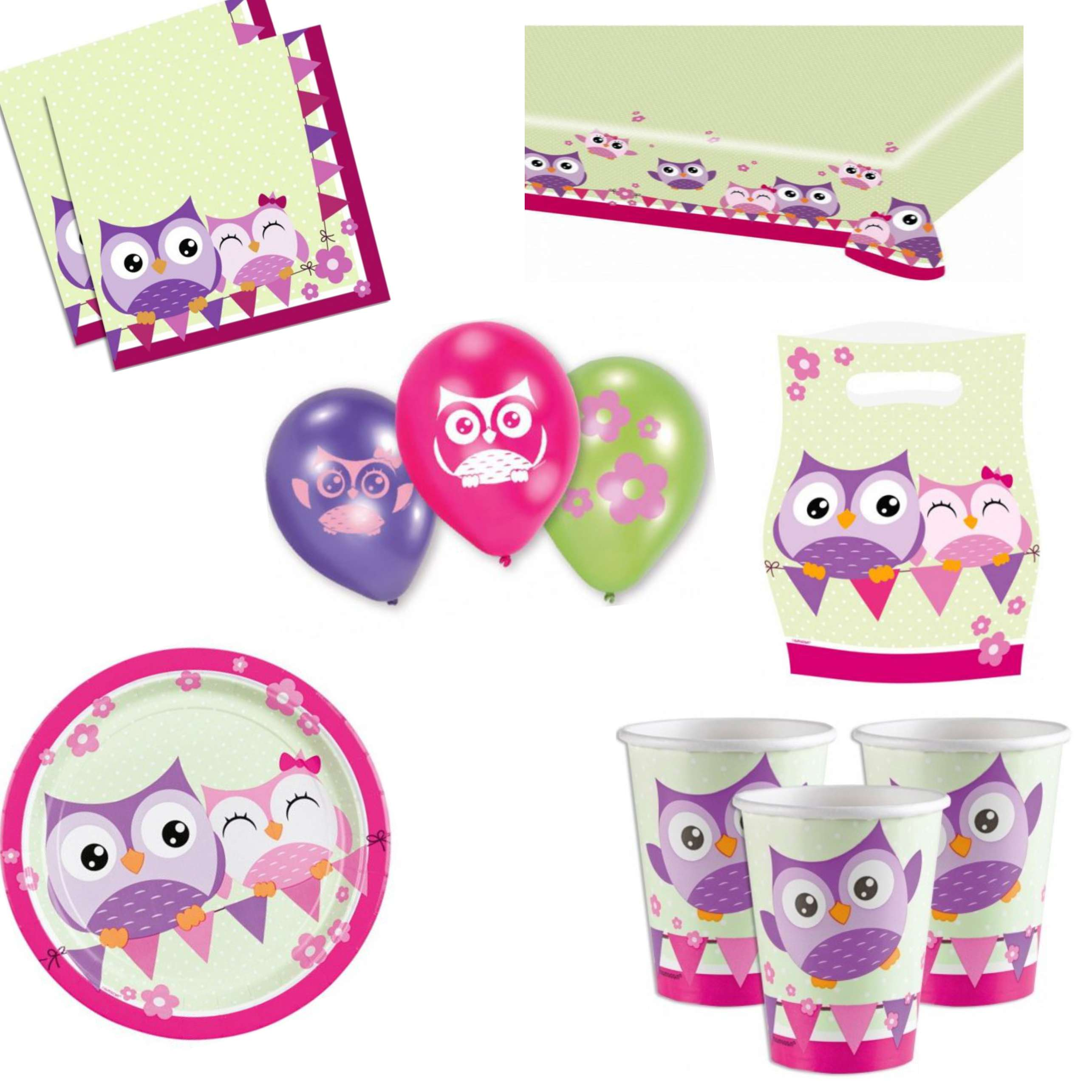 Owl Party Decorations Pack
