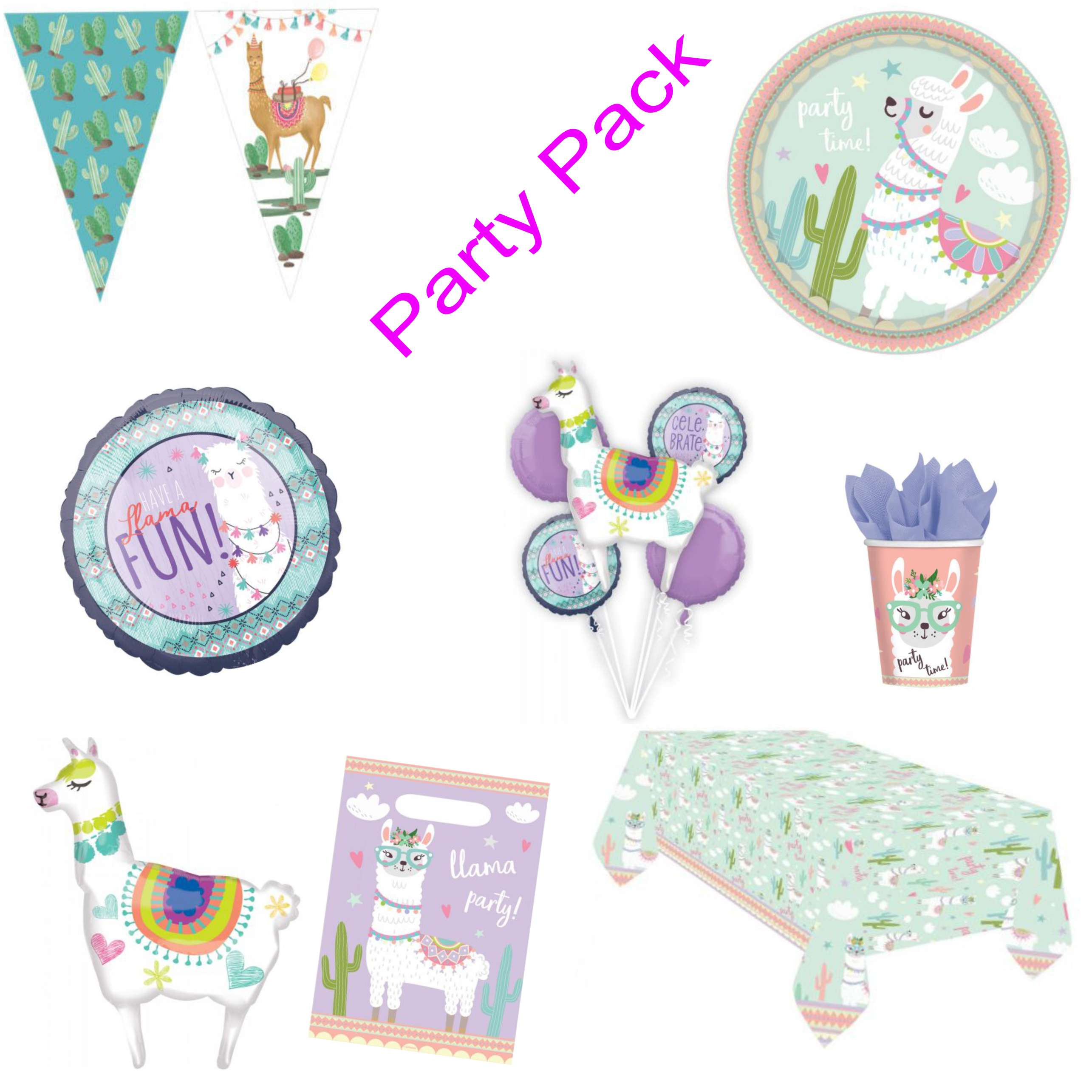 Llama Party Decoration Pack