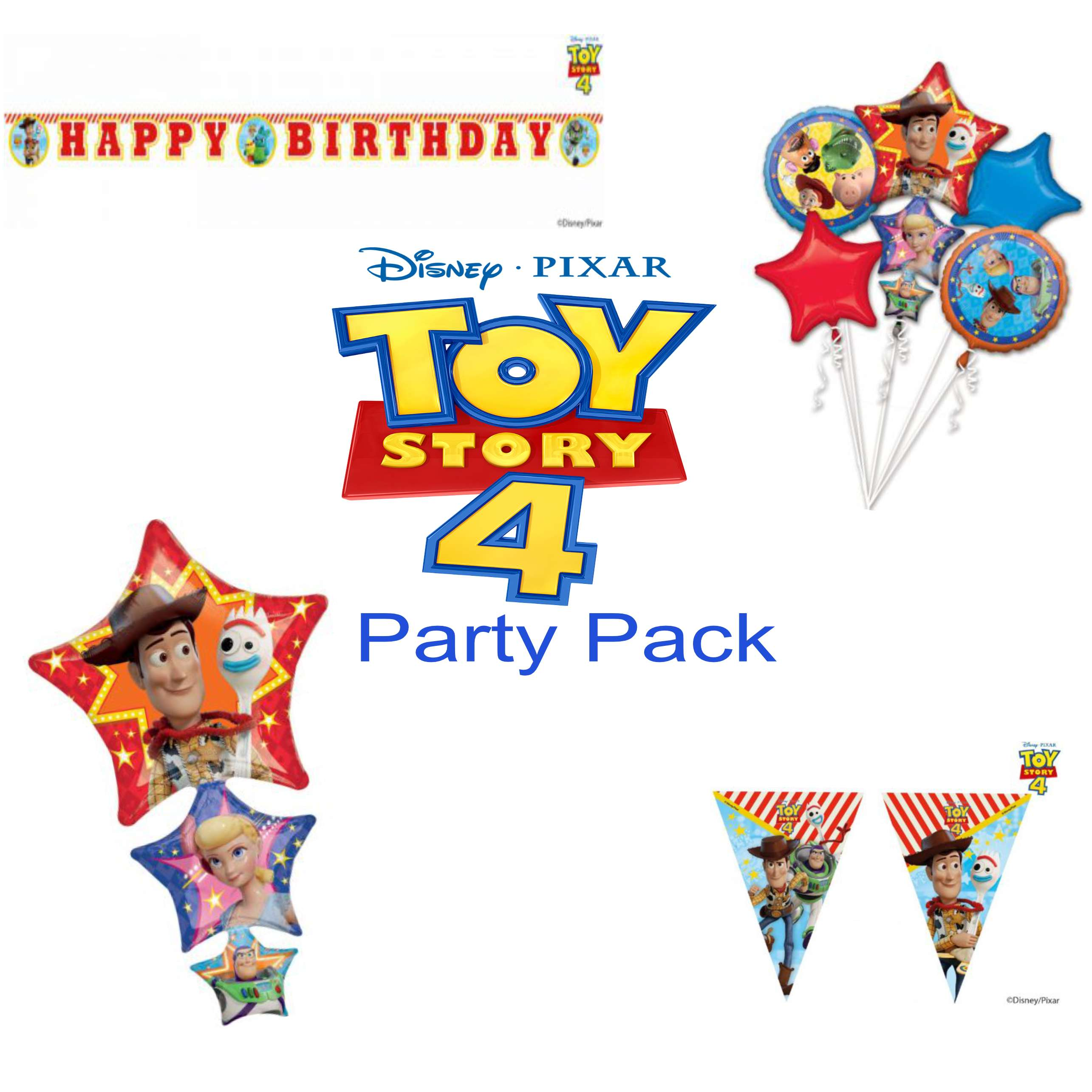 Toy Story 4 Party Decorations Pack