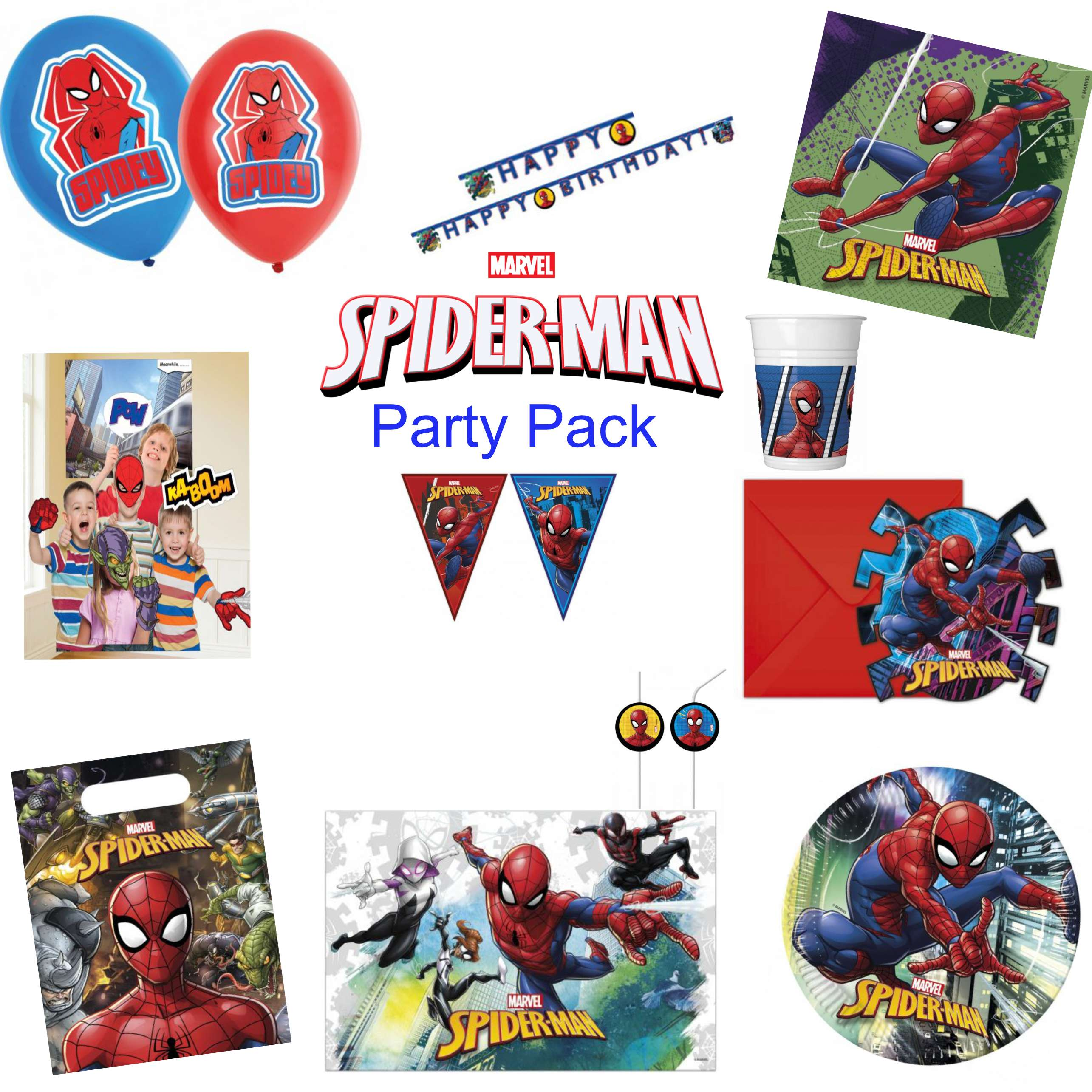 Spiderman Team Up Party Pack