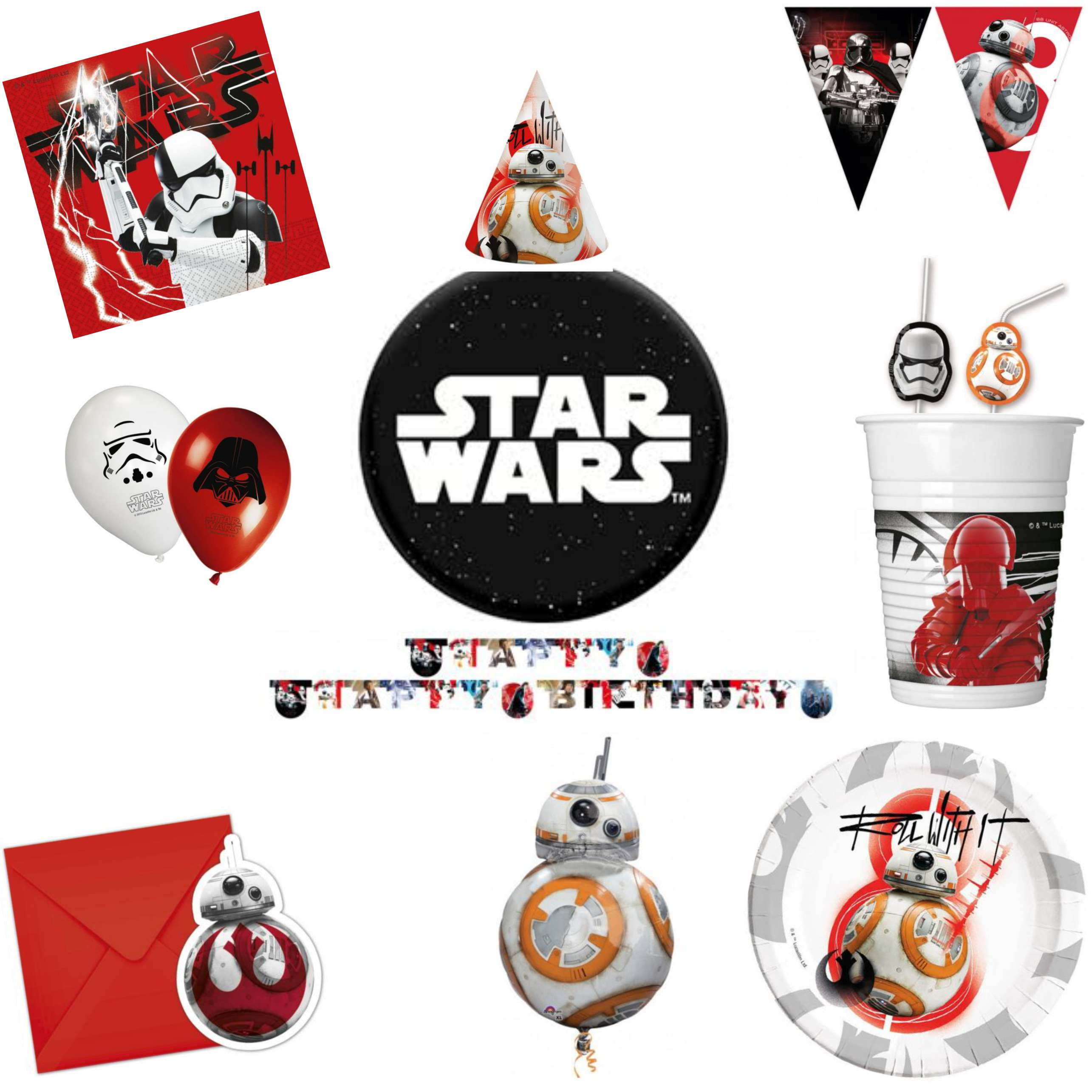Star Wars Last Jedi Party Pack