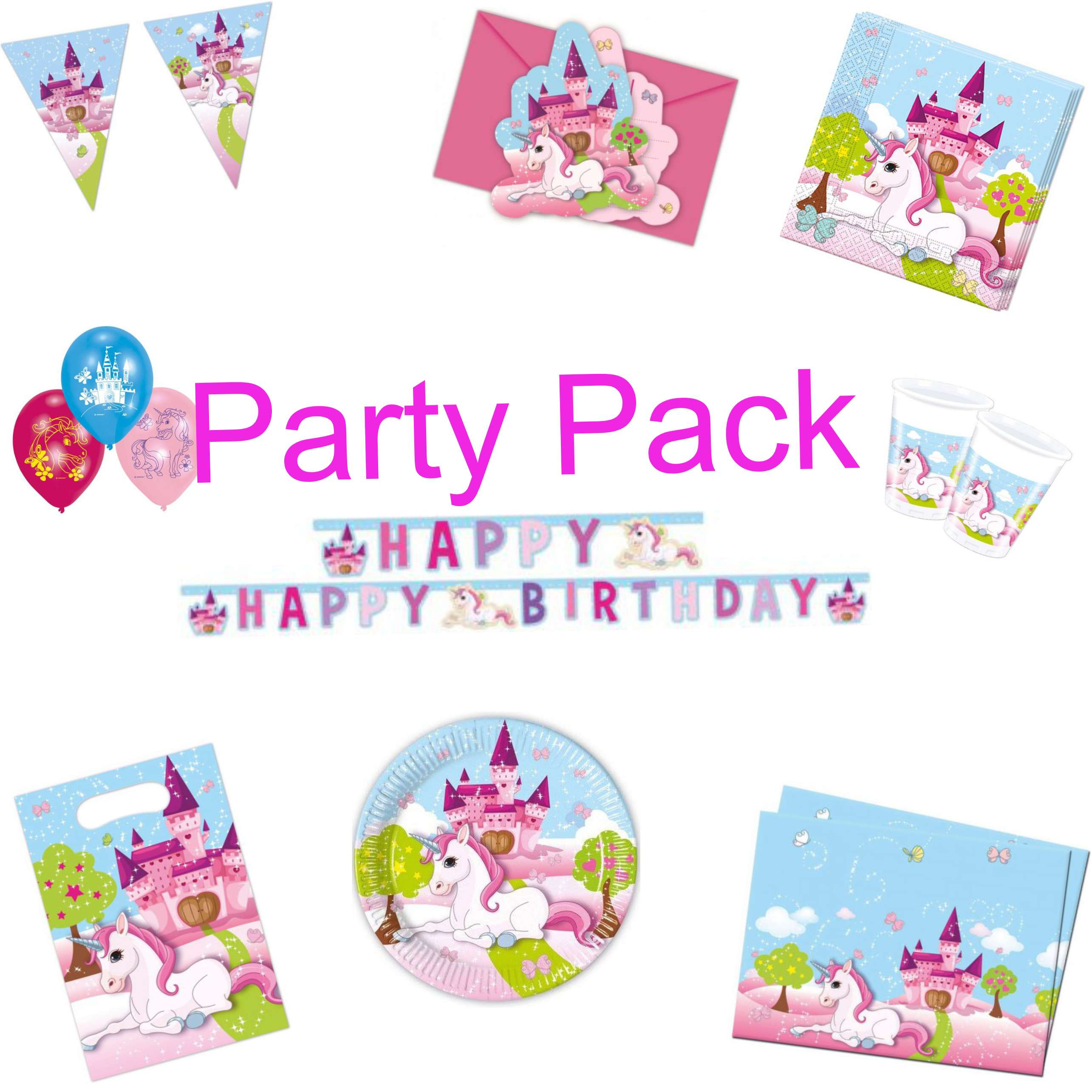 Unicorn 1 Party Pack