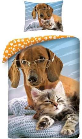 Dog And Cat Duvet Cover