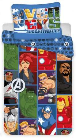 Avengers Cartoon Duvet Cover Set