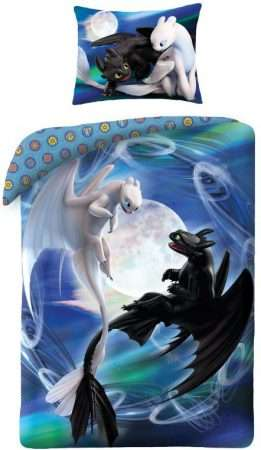 How To Train Your Dragon Black And White Dragons Bedding Set