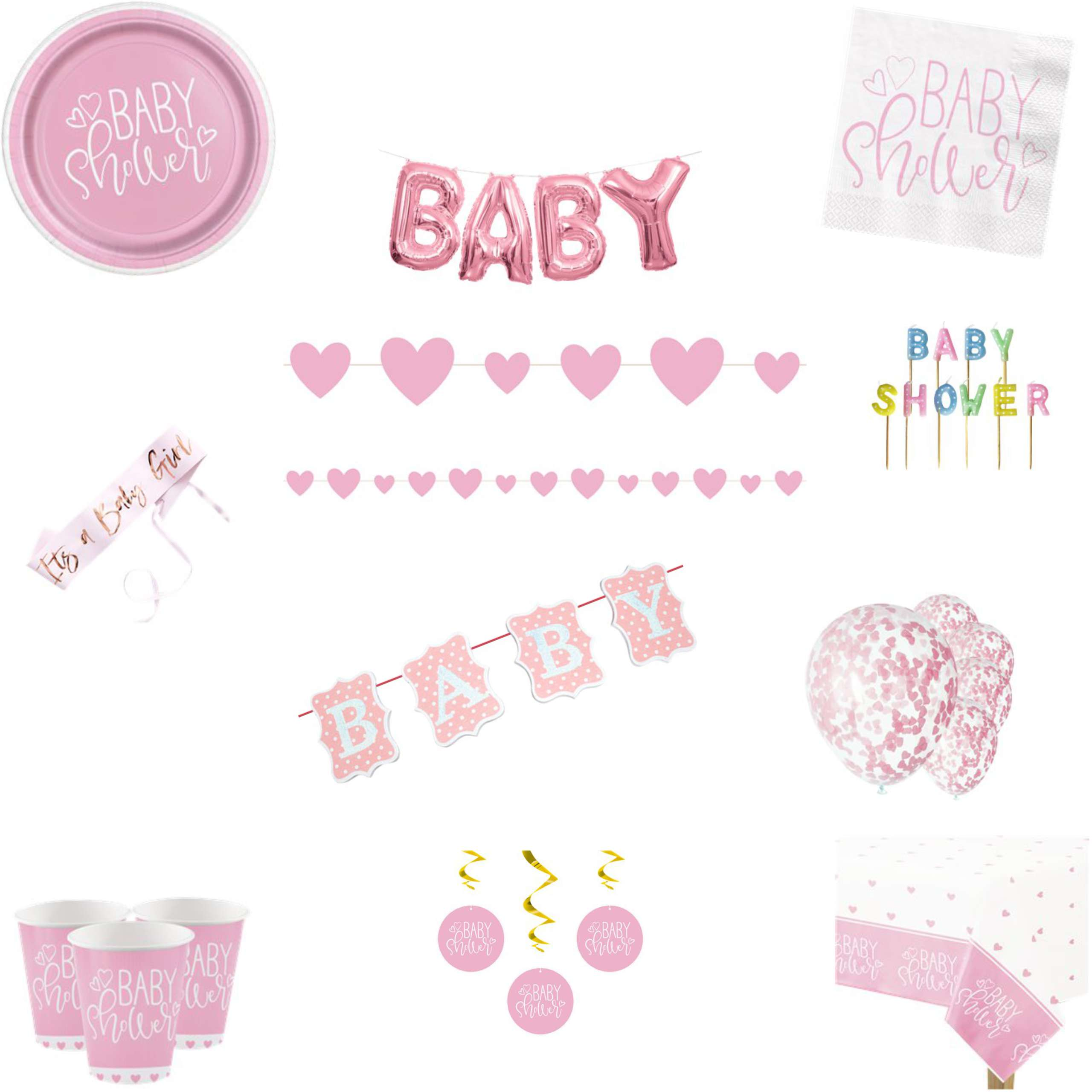 Baby Shower Party Pack Pink