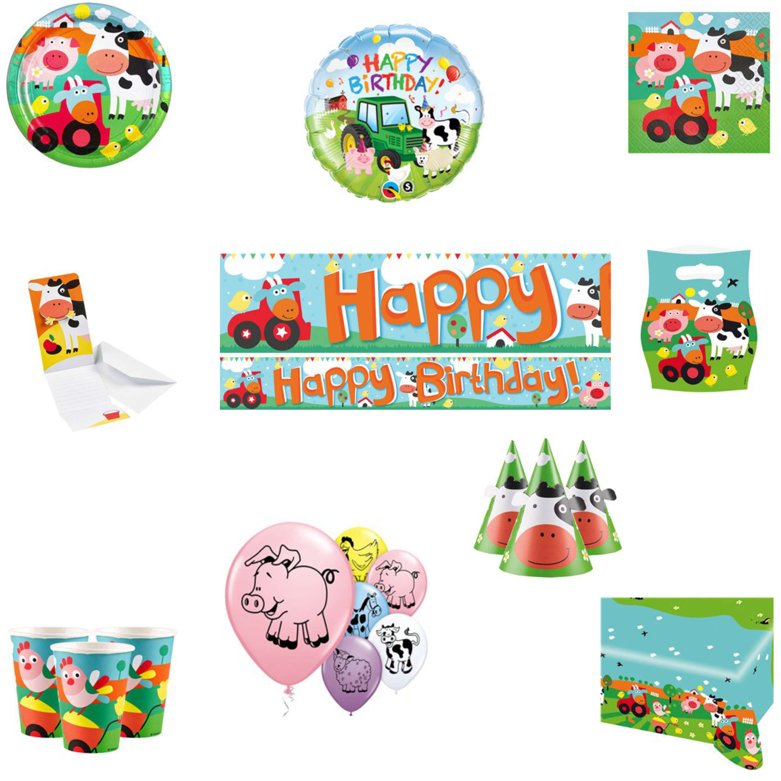 Farm Yard Animals Party Pack
