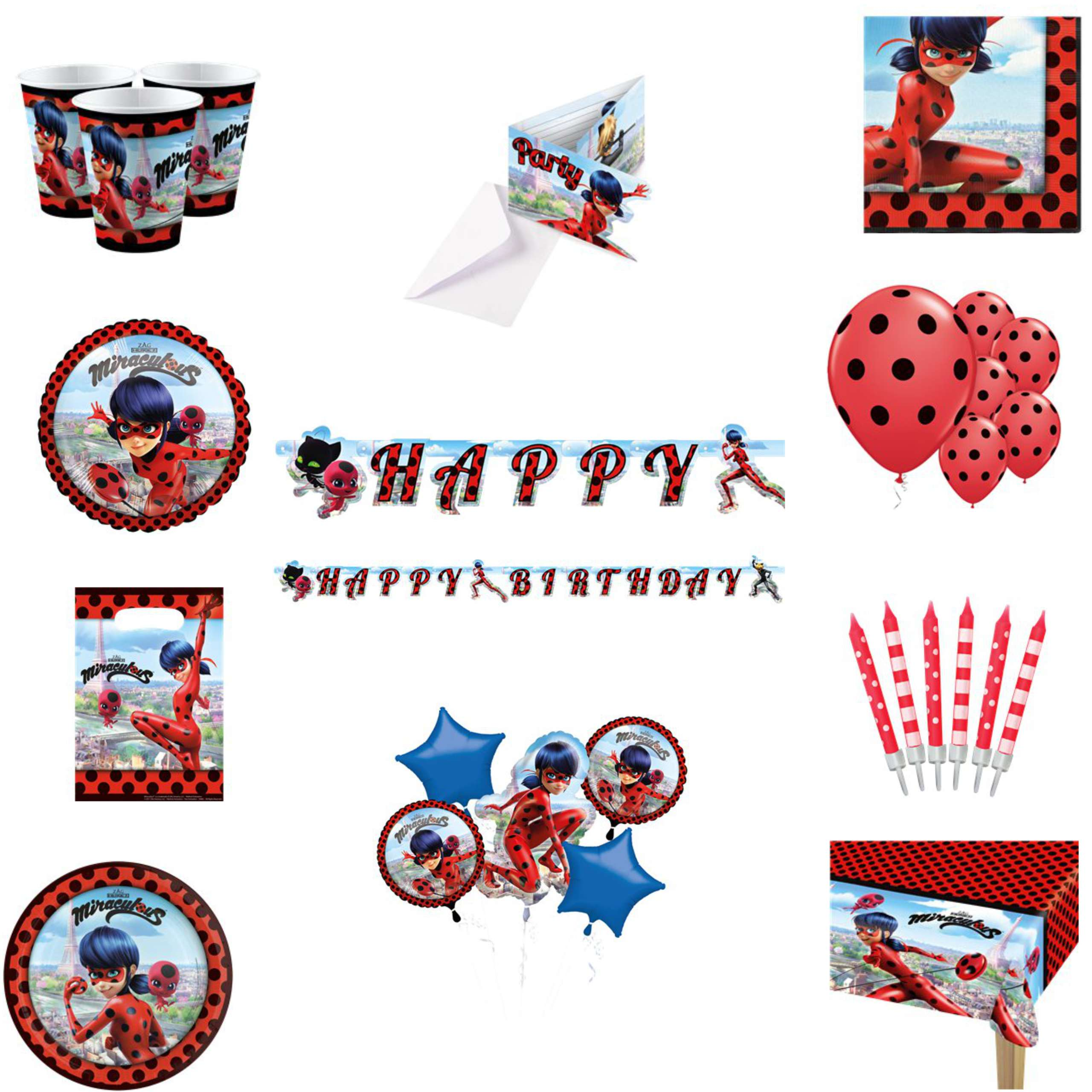 Miraculous Lady Bug Party Pack