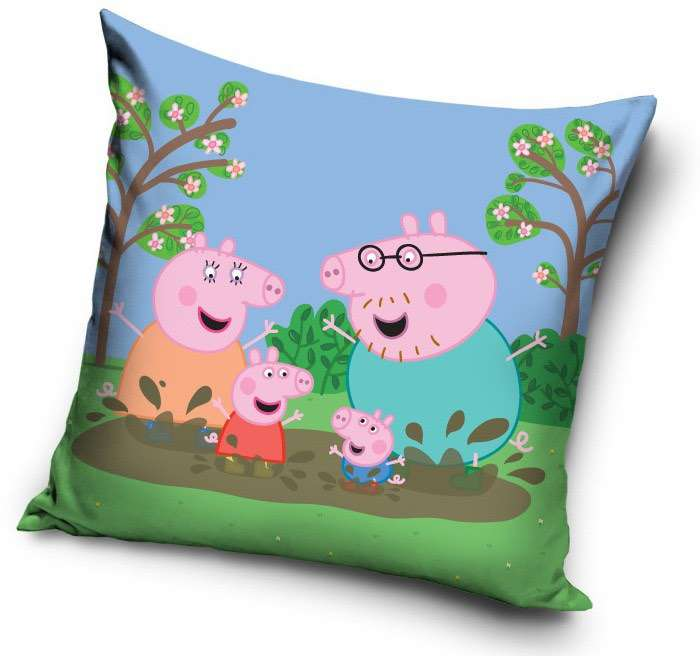 Peppa Pig Jumping In Muddy Puddles Cushion