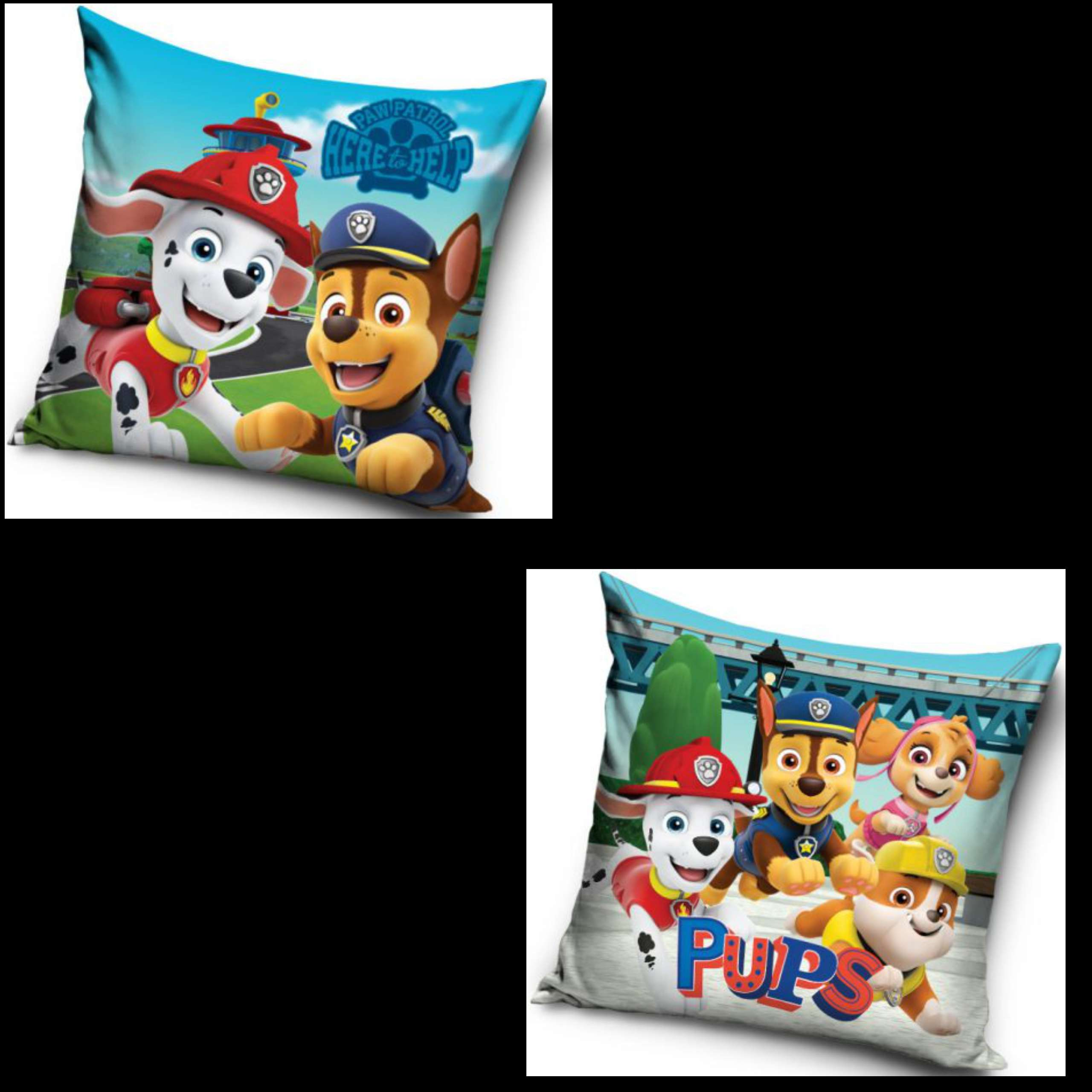 Paw Patrol Here To Help And Pups Two Pack Cushion Set