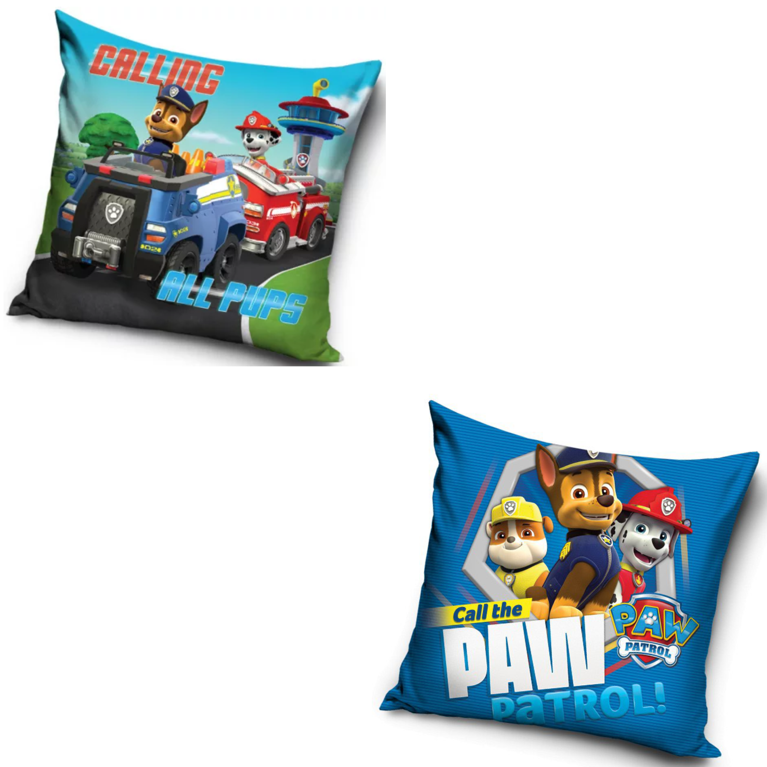 Call The Paw Patrol And Calling All Pups Two Pack Cushion Set