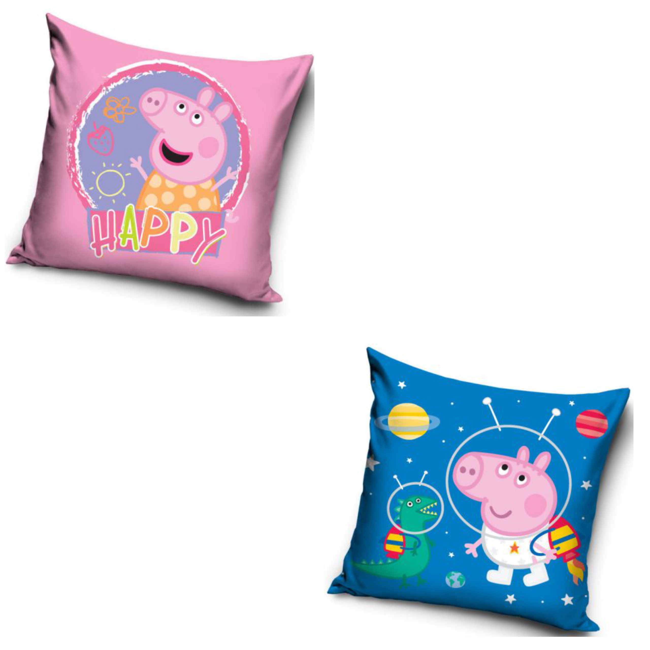 Peppa Pig Happy And Space George Two Pack Cushion Set