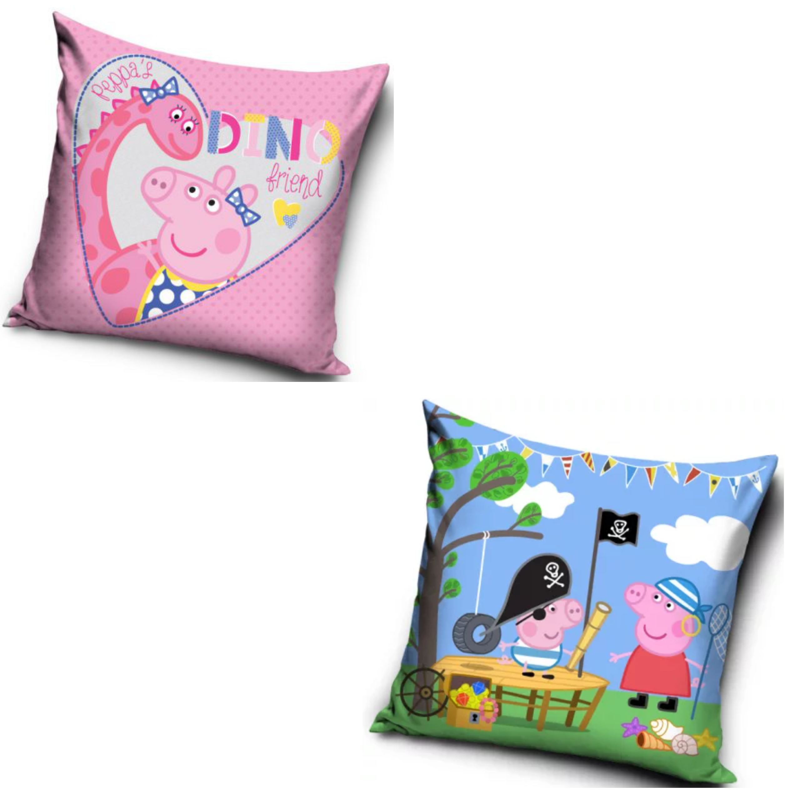 Peppa Pig Dino And Pirate George Two Pack cushion Set