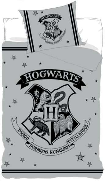 Harry Potter Hogwarts Silver Bed Set