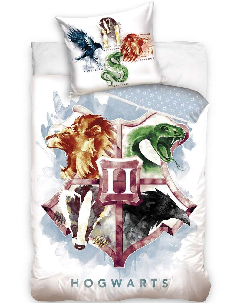 Harry Potter House With Animal Design Duvet Set