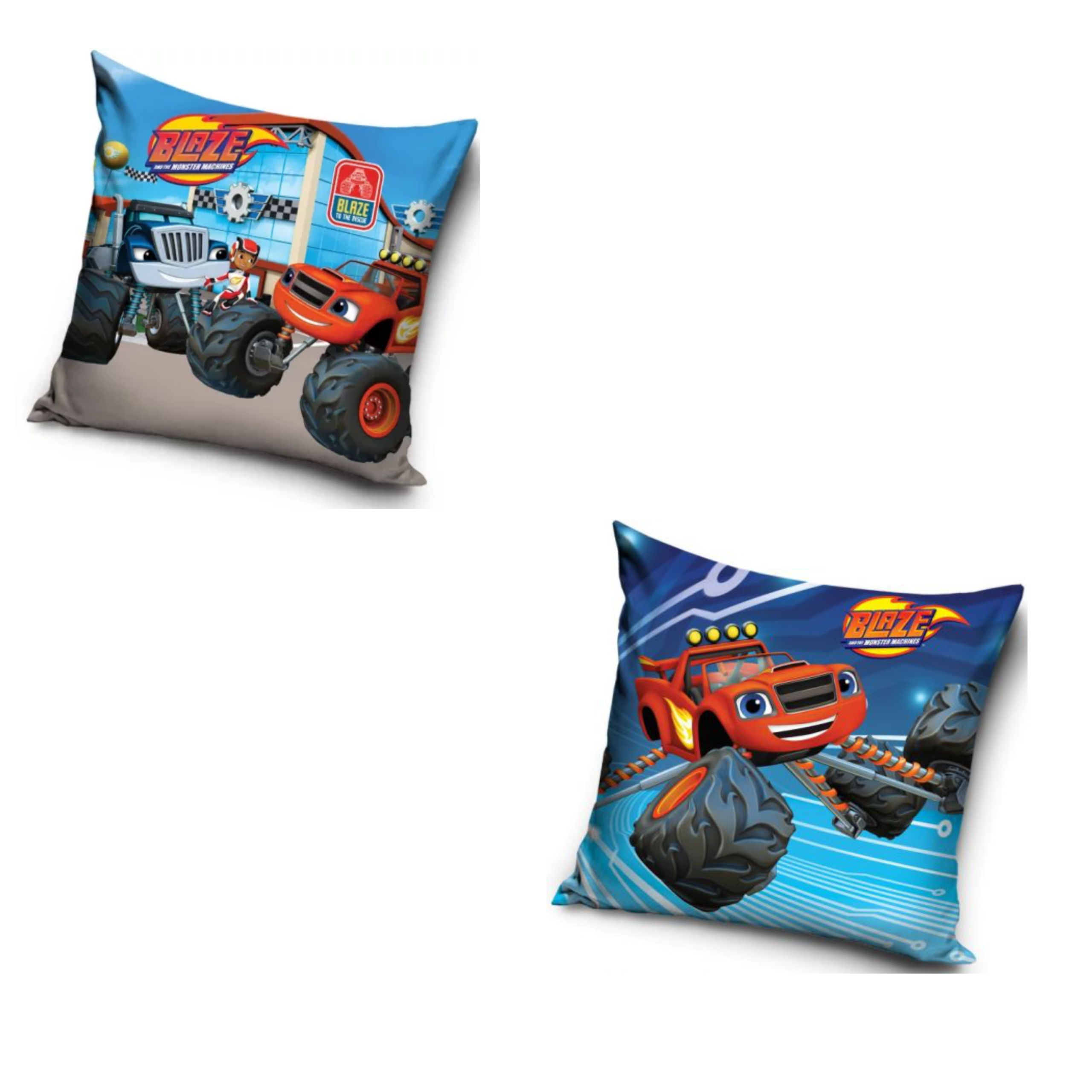 Blaze Goal And Blaze Up Close 2 Pack Cushion Set
