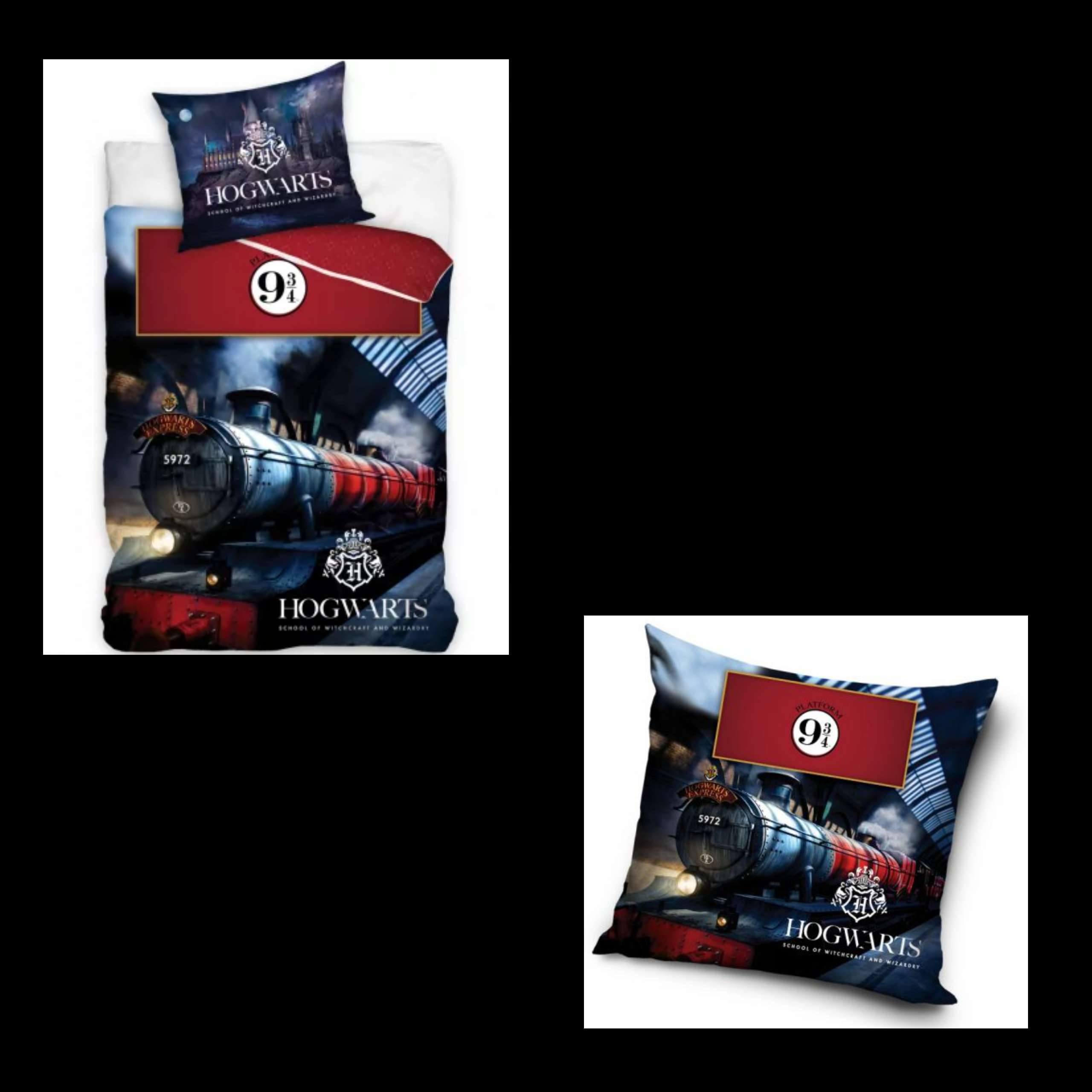 Harry Potter Single Duvet Cover And Matching Cushion Set