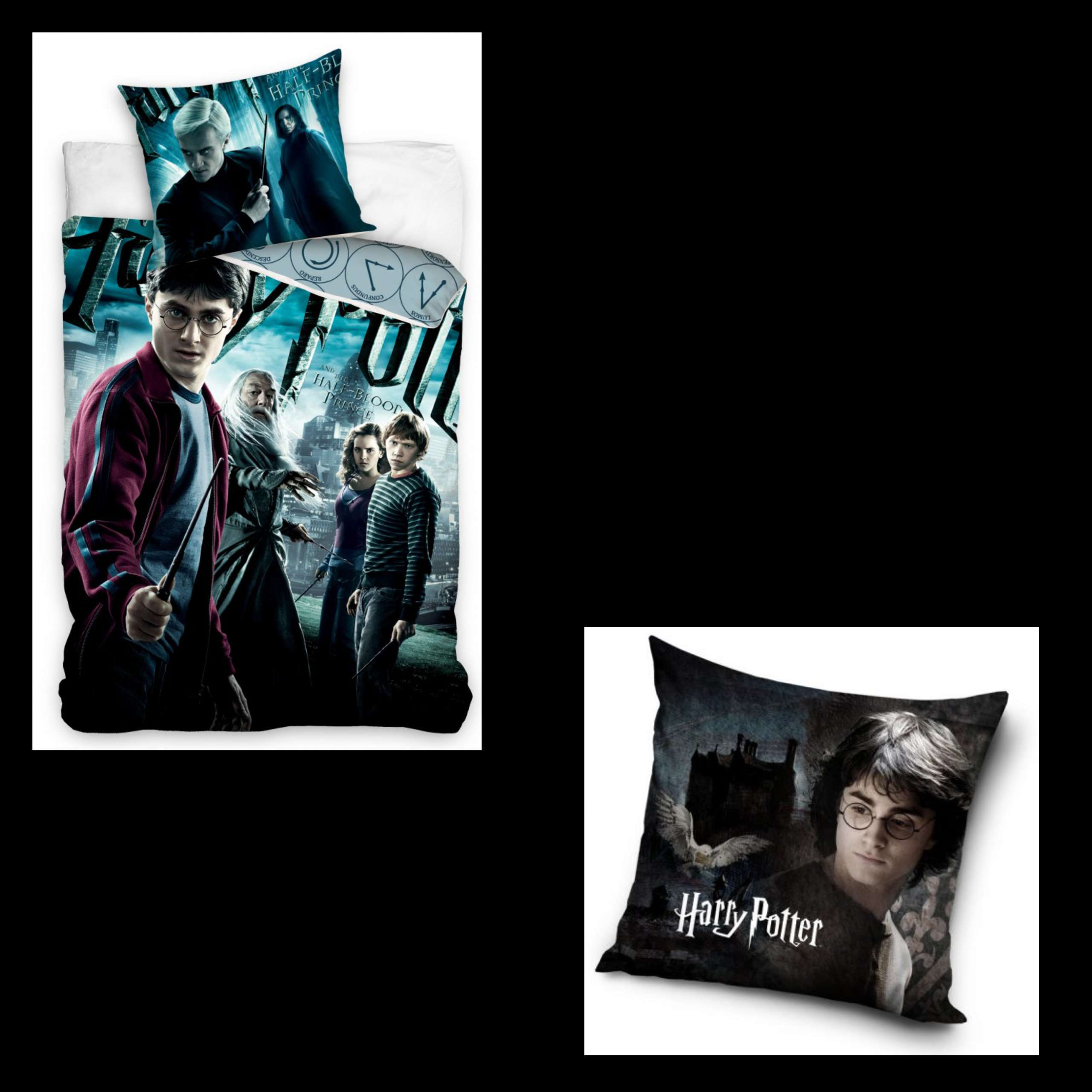 Harry Potter And The Half Blood Prince Duvet Set And Harry Potter Cushion Set